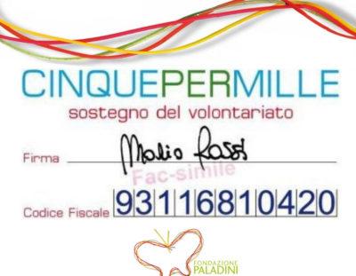 Ancora con noi: 5×1000 alla Fondazione Paladini!